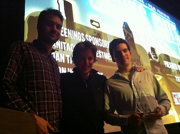 Domenic Remiro and his team accept award for Best Short Short